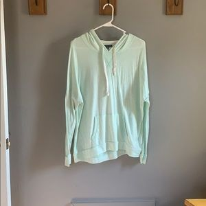 American Eagle Mint Green Lightweight Hoodie
